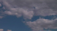 Time Lapse Clouds in a Spring Sky Stock Footage