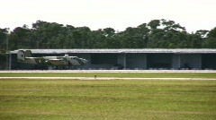 Old bomber taxiing Stock Footage