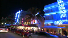 Driving on south beach, ocean drive. Stock Footage