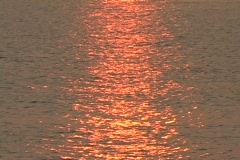Sunlight shimmers on ocean Stock Footage