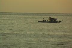 Philippine fishing boat Stock Footage