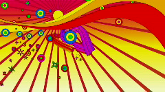psychedelic flowerland 2 hd - stock footage