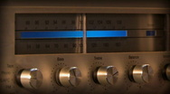 Stock Video Footage of Tuning old AM FM Radio 037 - Side