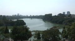 Hoan Kiem Lake, Hanoi Stock Footage