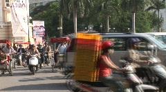 Hanoi rickshaws, Vietnam - stock footage