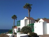Tourist resort on Fuerteventura Stock Footage