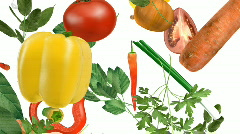 Vegetables background 002 - stock footage