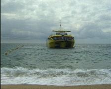 Tourboat in Lloret de Mar. Stock Footage