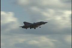 Draken landing - stock footage
