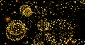 Fireworks in Gold - Motion Graphic 34 (HD) Footage