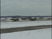 Duel take off Stock Footage