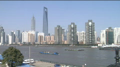 Stock Video Footage of View of Shanghai World Financial Centre from the south