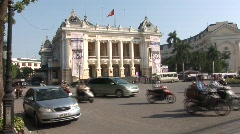 Hanoi Opera House Vietnam - stock footage