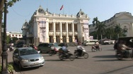 Stock Video Footage of Hanoi Opera House in daytime