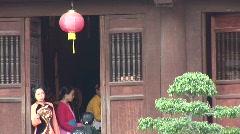 Musicians in Vietnam temple Stock Footage