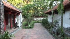 Temple courtyard, Vietnam Stock Footage