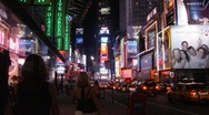 Stock Video Footage of Times-Square