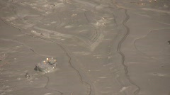 Mudflow on Lyme Regis Beach, Dorset, Stock Footage