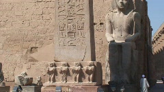 Luxor Temple Obelisk Egypt Stock Footage