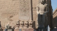 Stock Video Footage of Luxor Temple Obelisk Egypt