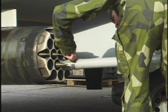 Loading missiles 1 Stock Footage