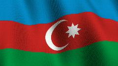Flag fo Azerbaijan Stock Footage