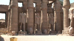Egyptian Statues and Columns Stock Footage