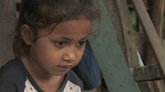 Cambodia: Girl in the Slums Stock Footage