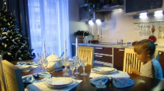 Dining room 002 Stock Footage