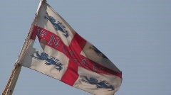 Tattered Flag of England - stock footage