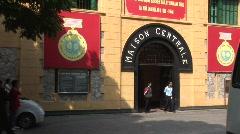 Hanoi Hilton Prison entrance, Vietnam - stock footage