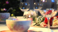 Dining room 010 Stock Footage