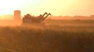Silhouette of farm trucks Stock Footage