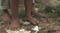 Cambodia: Child in Poverty - stock footage