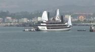 Vietnam cruise boat Stock Footage