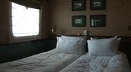 Vietnam cruise boat cabin interior Stock Footage