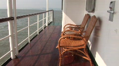 On deck, classic cruise ship, Vietnam - stock footage