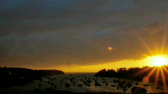Sunrise at Mackerel Cove (zoom out) - stock footage