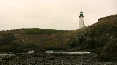 Yaquina Head Lighthouse Stock Footage