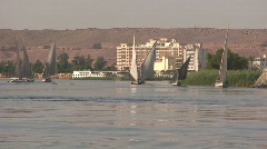 Aswan and the River Nile Stock Footage