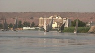 Stock Video Footage of Aswan and the River Nile