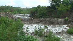 Malawi: flooded river after tropical rain storm 2 - stock footage