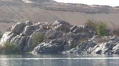 Elephantine Island and Ferry Egypt Stock Footage