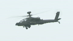 Apache helicopter flying 7 Stock Footage