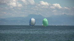 Yachts on Lake Geneva Stock Footage