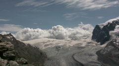Mountains in the Matterhorn region of Switzerland - stock footage