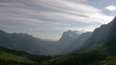Switzerland,Swiss mountains in the morning light - stock footage