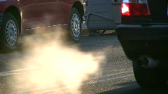 Car smoke Stock Footage