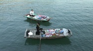 Vietnam, selling groceries from boats Stock Footage