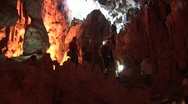 Tourists in cave timelapse, Vietnam Stock Footage
